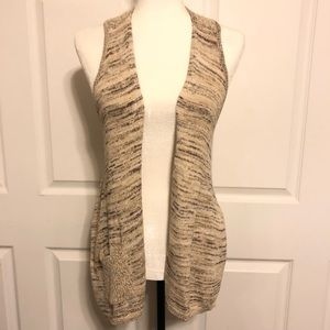 Anthropologie Textured Sweater Vest By Curio Tan